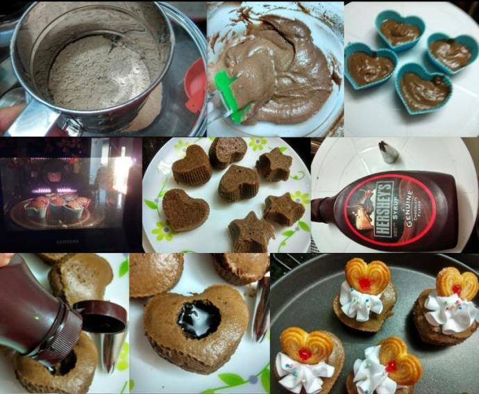 кексы с жидким центром рецепт с фото