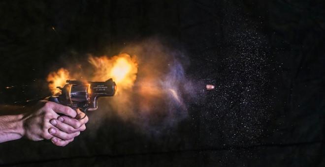 Вылет пули при выстреле