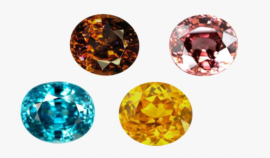 Фианиты разных цветов