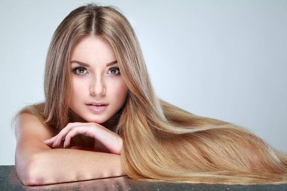 гладкие и блестящие волосы
