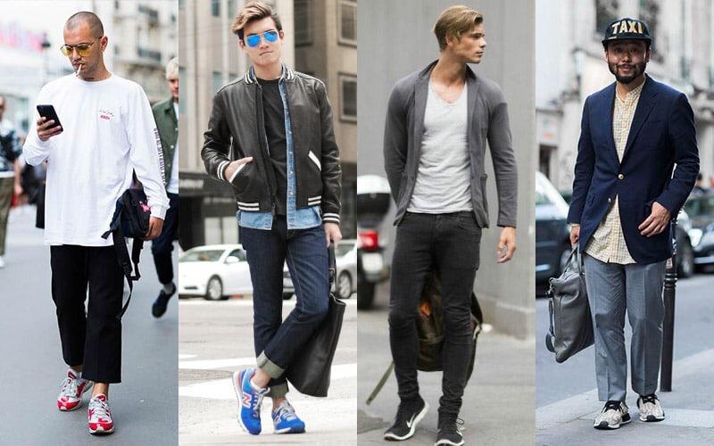 Спортивная обувь с брюками