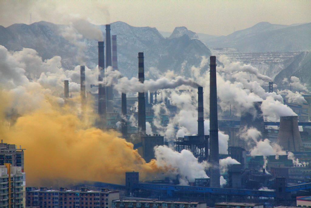 Загрязненный воздух мегаполиса