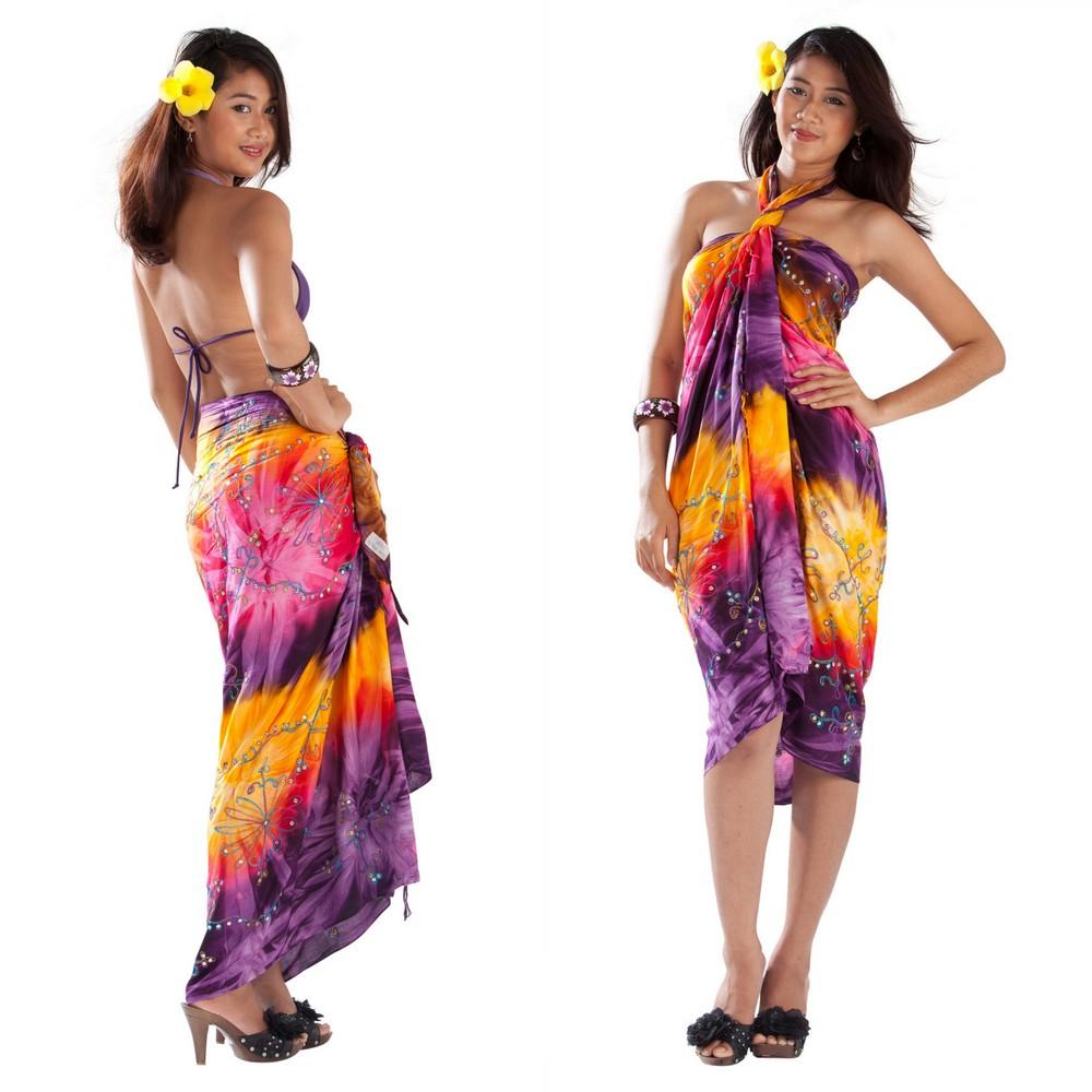 Модное платье из саронга