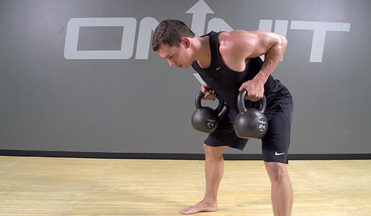 упражнения с гирей на спину дома