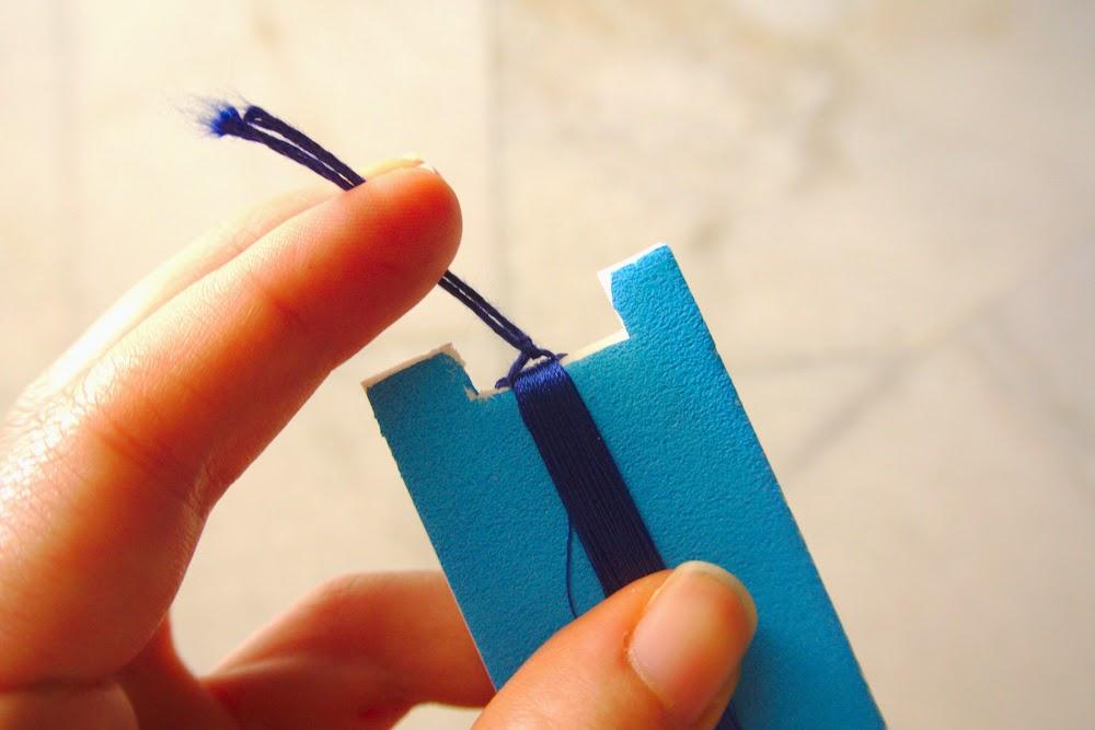 шаблон для наматывания нитей