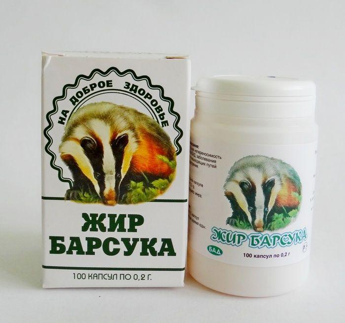 Лечение жиром барсука