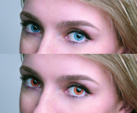 как можно поменять цвет глаз
