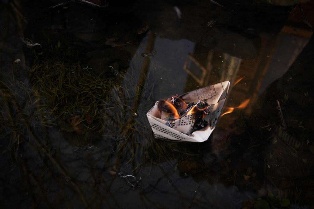 Огонь на воде - это невероятно
