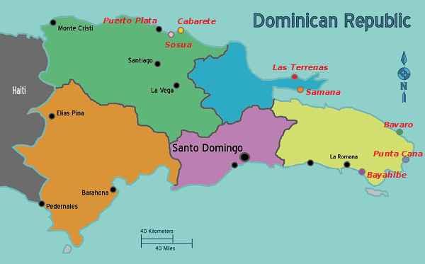 Карта Пунта Кана