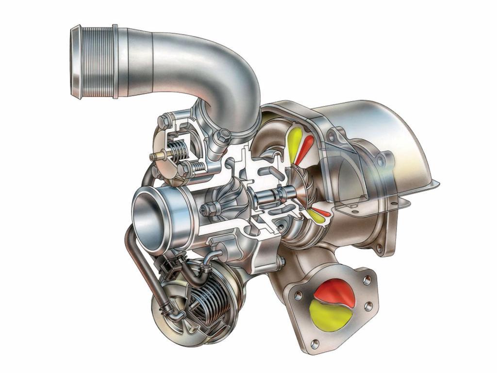 Схема твинскрольной турбины