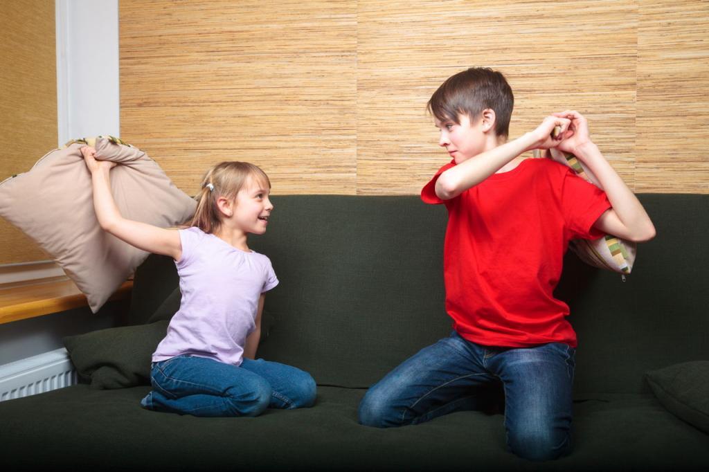 ссора между братом и сестрой
