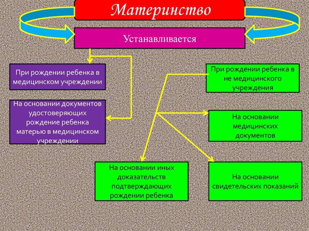 Как в России устанавливается материнство - принципы