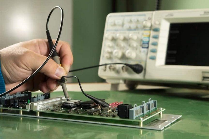 исследование аппаратуры осциллографом