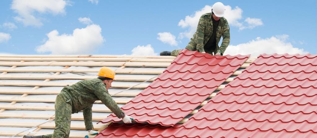 технология покрытия крыши металлочерепицей