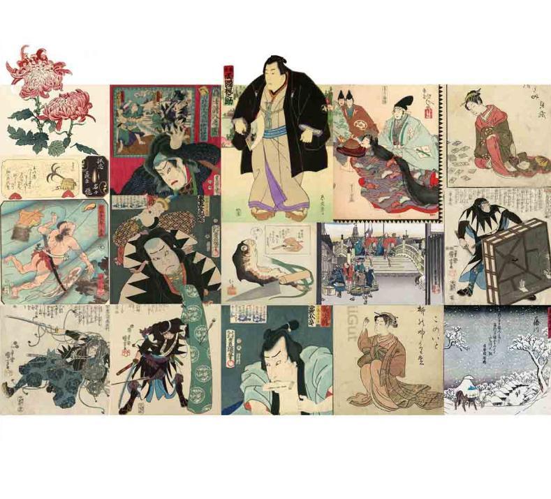 японская средневековая гравюра