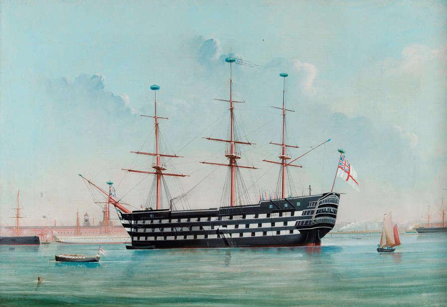 Корабль «Виктори» до первого ремонта