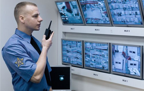 Наблюдение по мониторам видеотерминалов