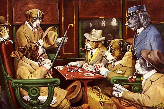 собаки и покер