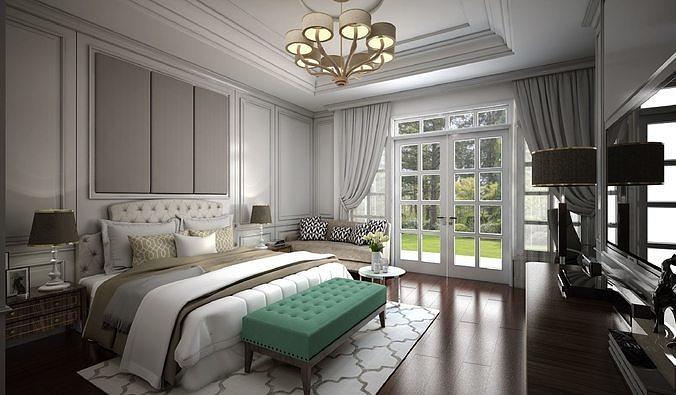 спальня классика интерьер