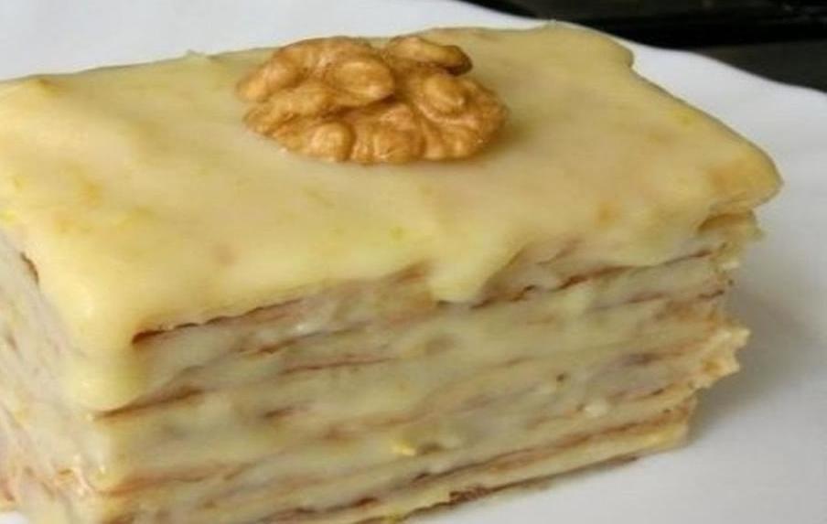 торт на сковородке со сгущенкой