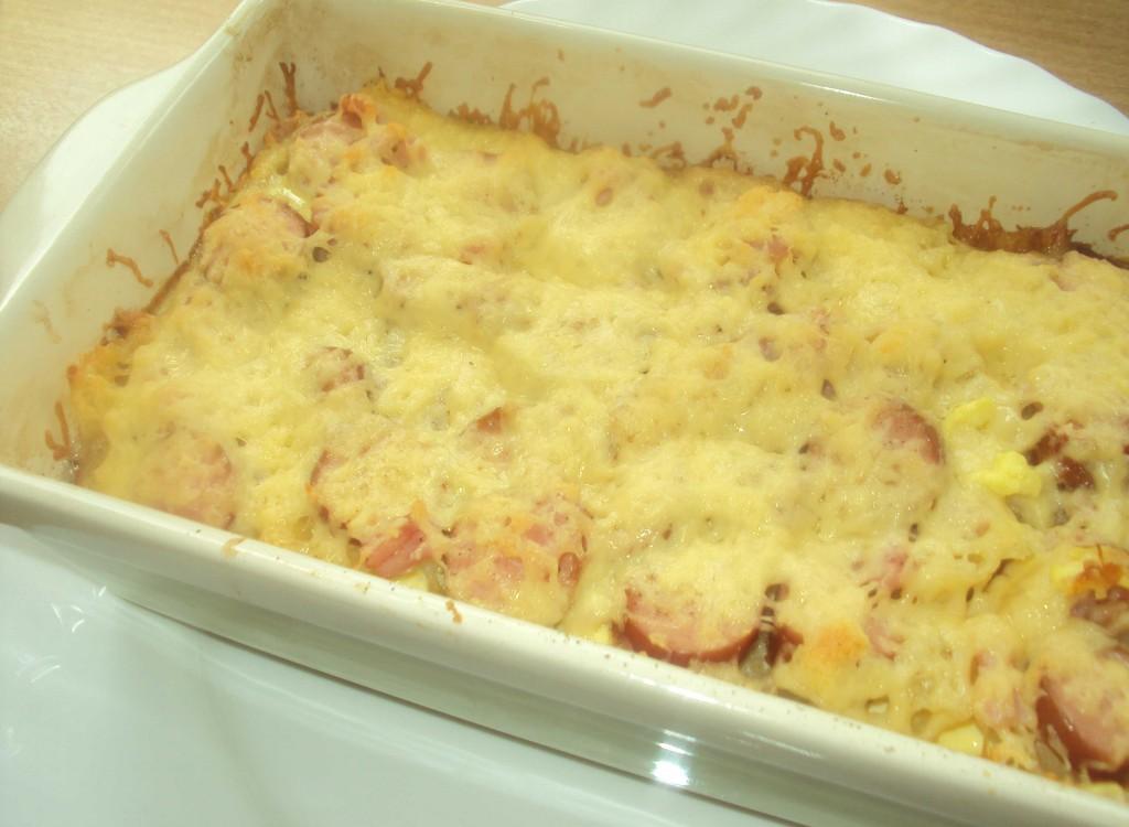 рецепт макарон с сосисками
