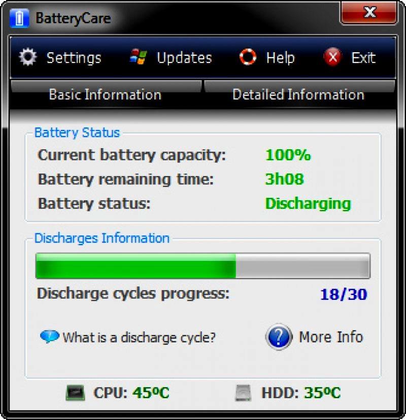 BatteryCare для измерения ресурса