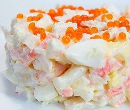 салат из кальмаров крабовых палочек