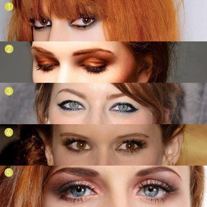 Макияж под рыжие волосы карие глаза фото