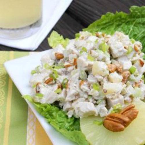 салат пекинская капуста курица ананас рецепт