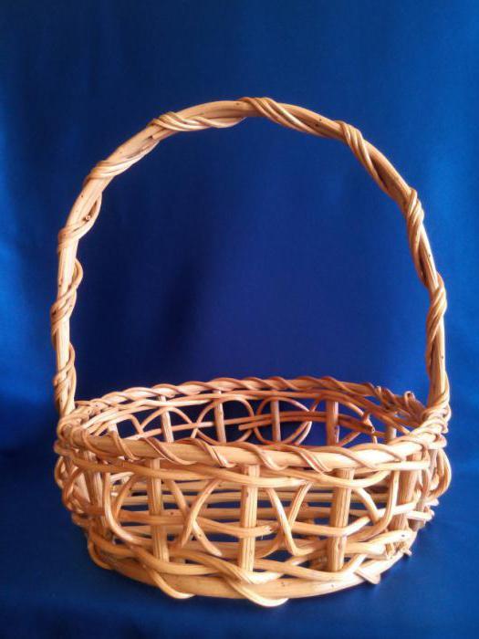 Плетение корзины из ивы пошагово