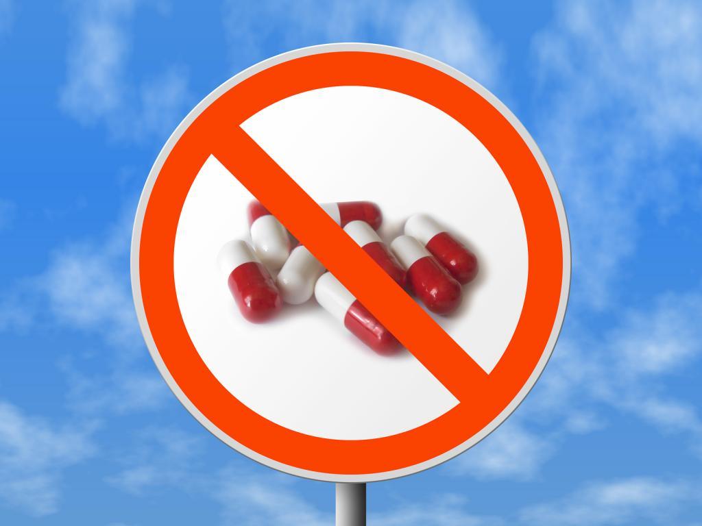 запрет на использование антибиотиков