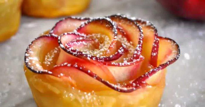 Розочки из слоёного теста с яблоками пошаговый рецепт с
