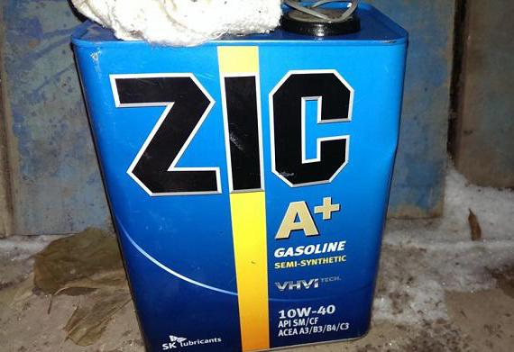 масло zic 10w 40 sm