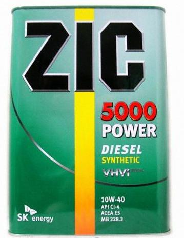 масло zic 10w 40 diesel