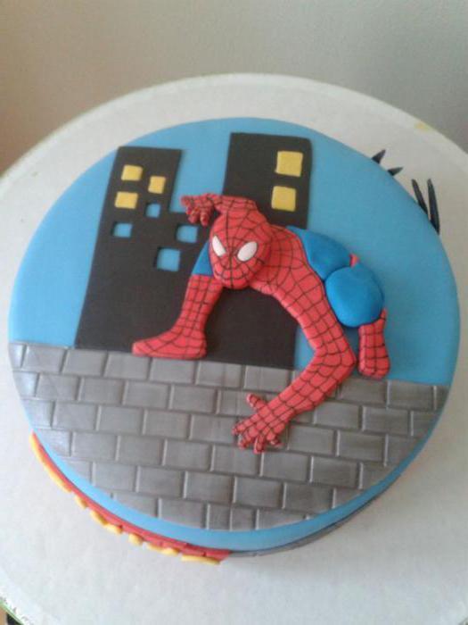 человек паук из мастики фото