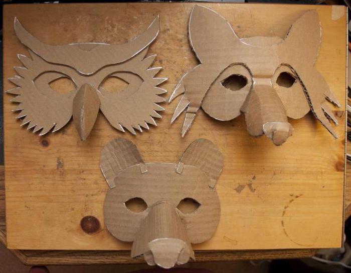 Как сделать себе маску из картона