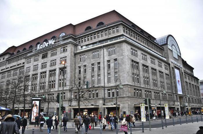 KaDeWe в Берлине магазины