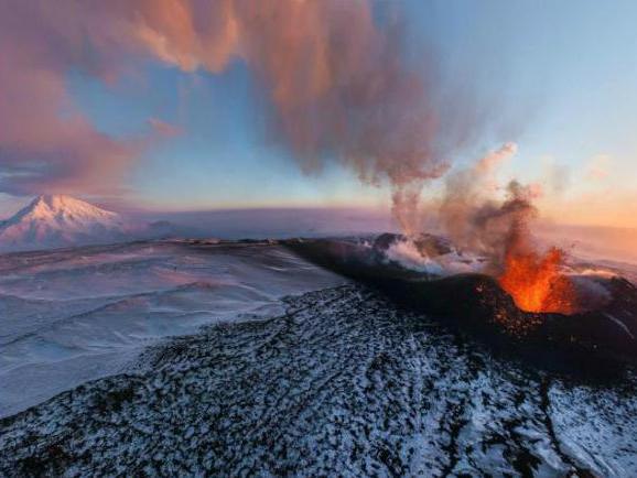 Извержение вулканов на территории России