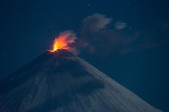 Крупные извержения вулканов в России