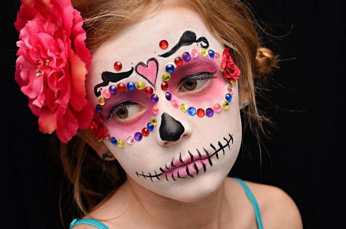 Макияж для детей на хэллоуин своими руками видео