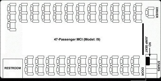 места в автобусе схема 49 мест