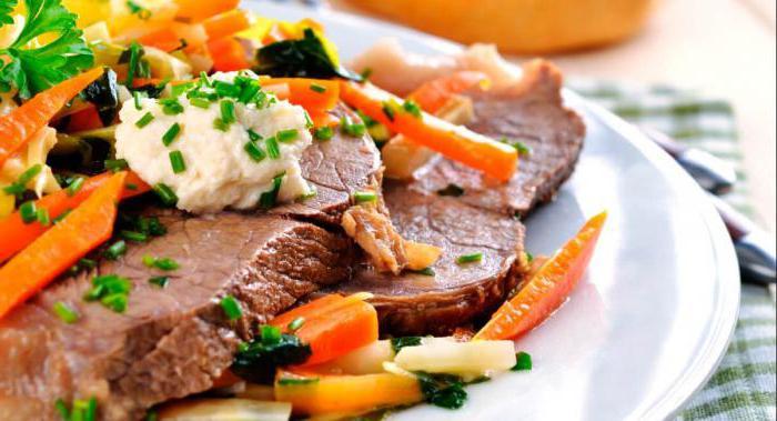 сколько калорий в вареной говядине