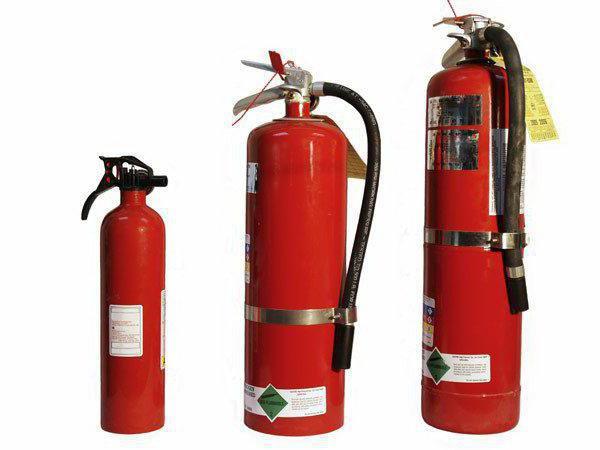 типовые нормы положенности огнетушителей