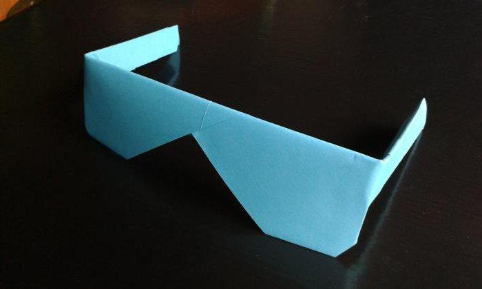 как из бумаги сделать очки