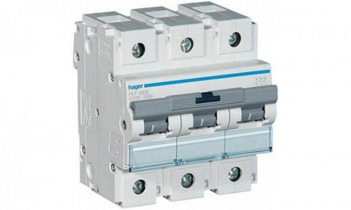 выключатель автоматический трехполюсный 100а