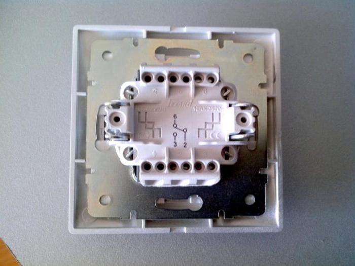 подключение выключателя лезард