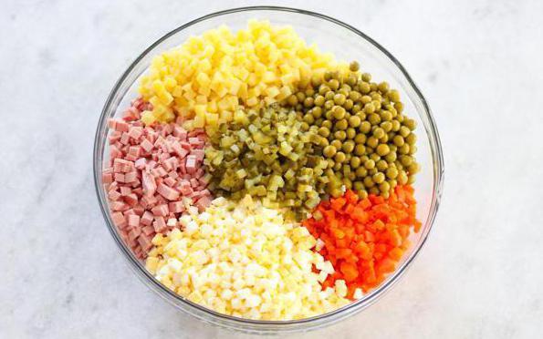 сколько калорий в салате оливье