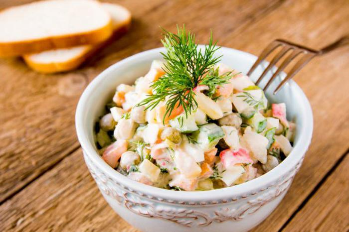 сколько калорий в оливье с колбасой