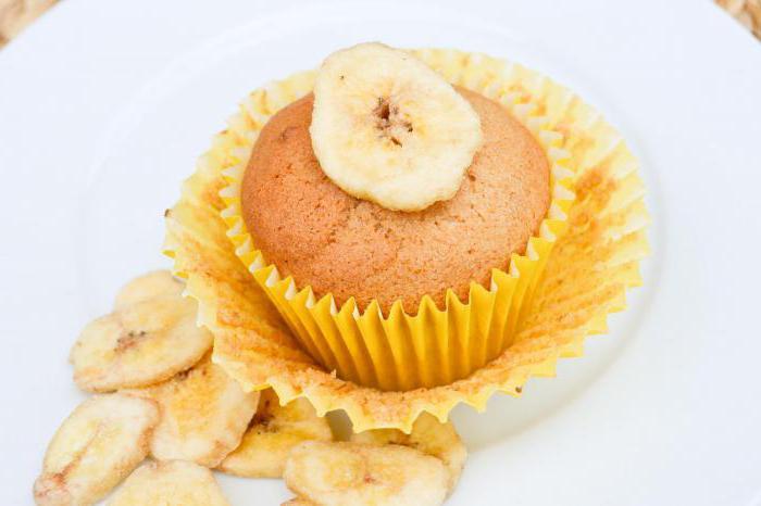 Как сделать кексики с бананом