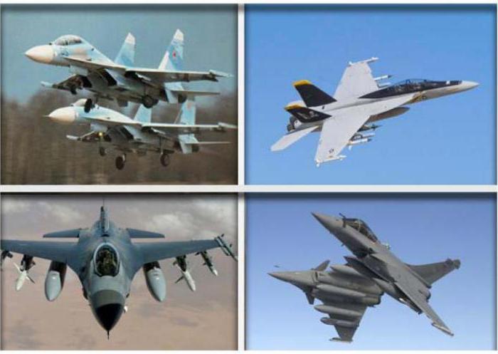 виды боевых самолётов